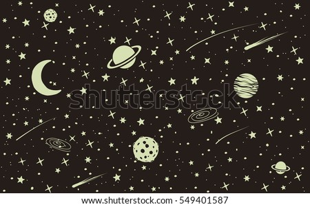 vintage space background with