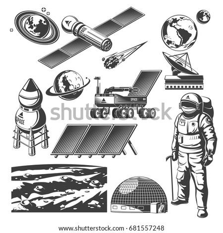 vintage space elements...