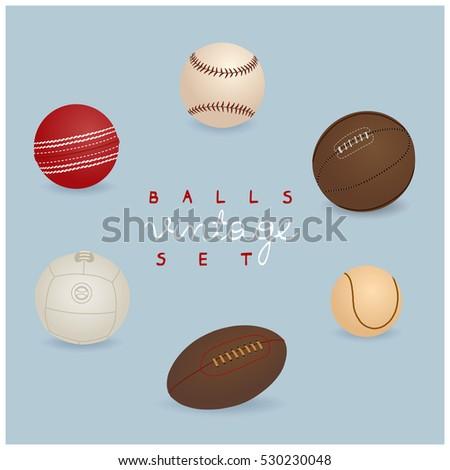vintage sport balls