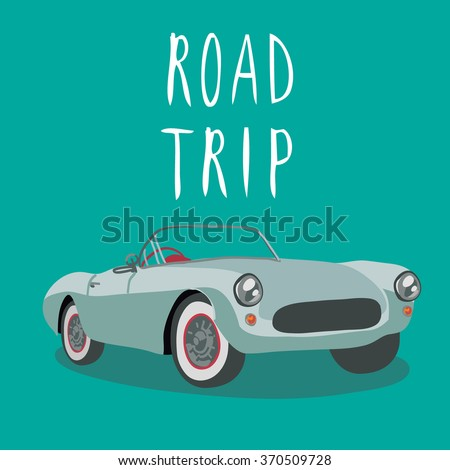 vintage sport car isolated