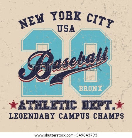 vintage sport wear new york t