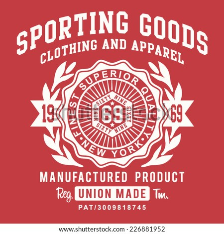 Vintage sporting typography t-shirt graphics vectors