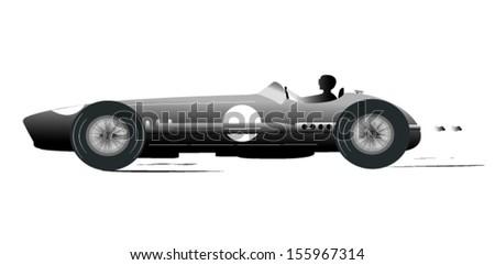 vintage sports racing car