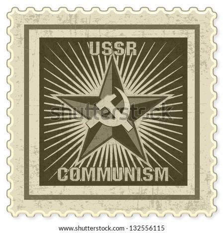 vintage stamp with communism