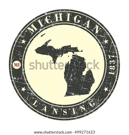 vintage stamp with map of...