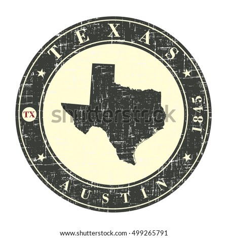 vintage stamp with map of texas....