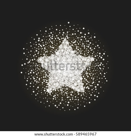 vintage star vector banner on