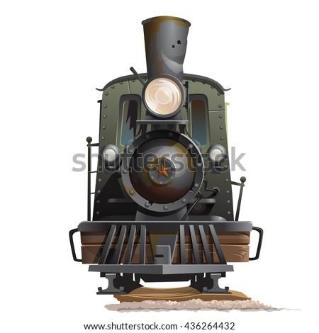vintage steam locomotive...