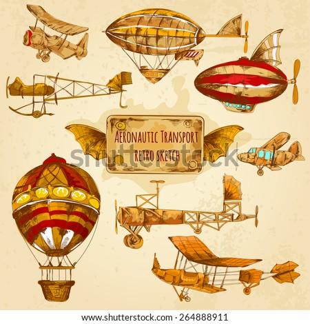 vintage steampunk aviation