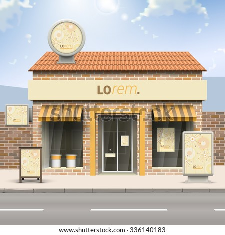 vintage store design with