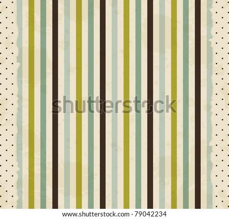 vintage striped background - stock vector