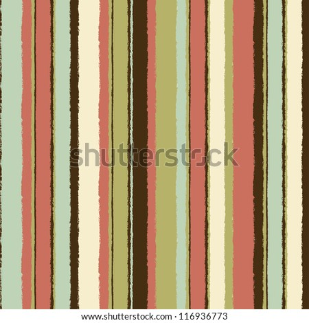 Vintage striped seamless pattern. Vector endless background