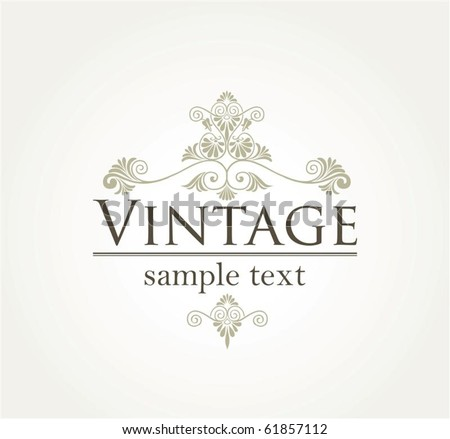 Vintage style background in editable vector format
