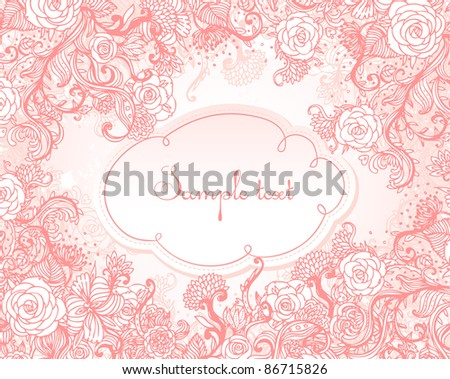 Vintage style background with flowers