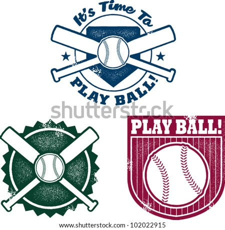 Vintage Style Baseball or Softball Stamps