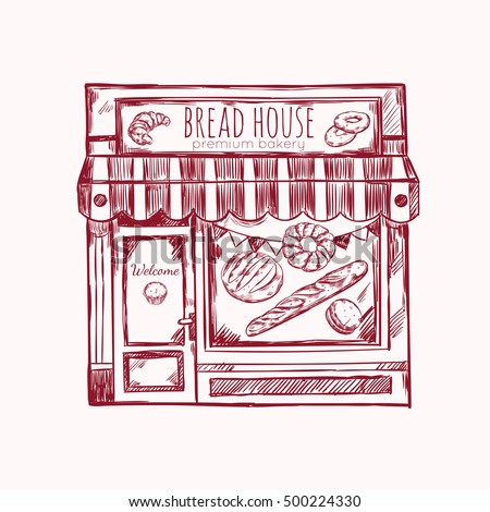 vintage style bread house...