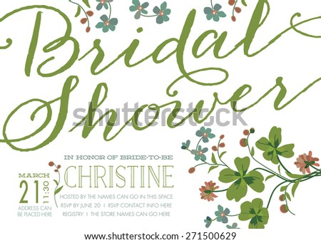Invitation Vector for Bridal Shower