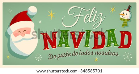 Spanish christmas greetings download free vector art stock vintage style christmas card in spanish m4hsunfo