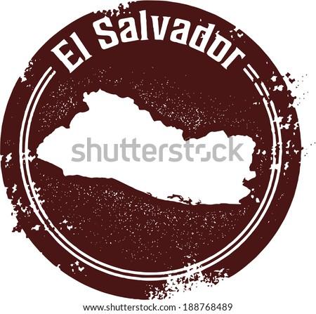 Vintage Style El Salvador Central American Country Stamp
