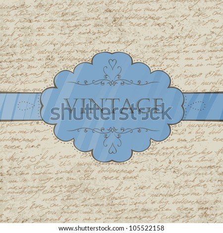 Vintage style greeting card. Vector, EPS 10. - stock vector