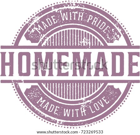 Vintage Style Homemade Product Label
