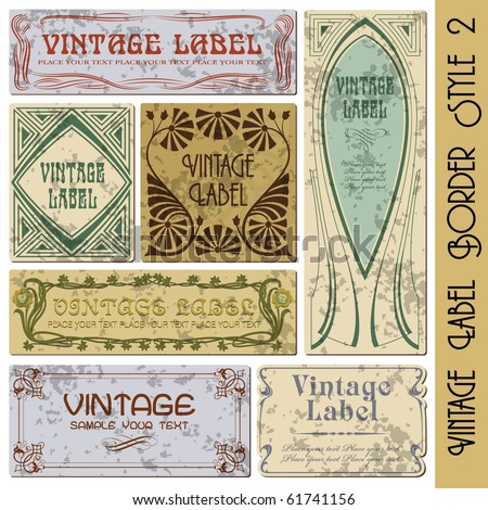 vintage style label - stock vector