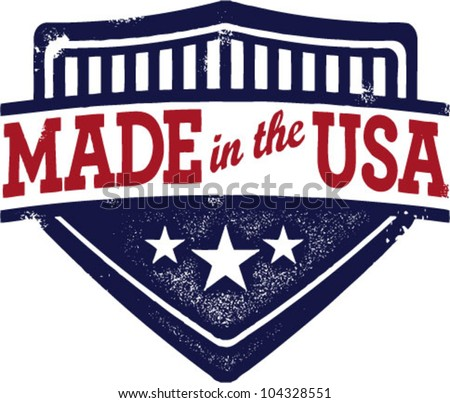 Vintage Style Made in USA Crest