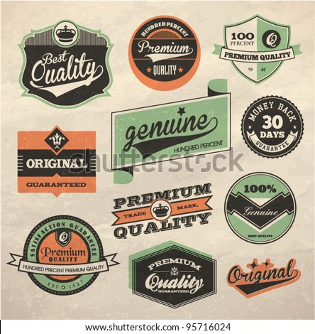 Vintage Style Premium and High Quality Label