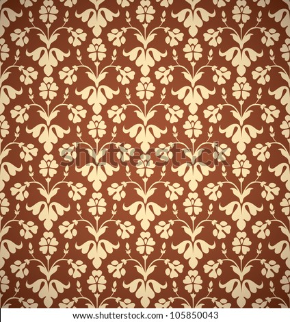 Vintage style seamless background, perfect vector wallpaper or web background pattern.