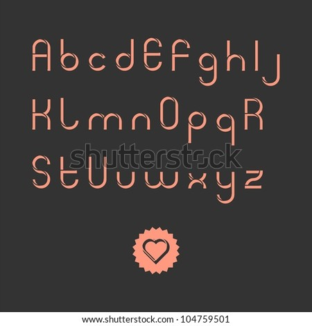 Vintage style stencil font (vector version)