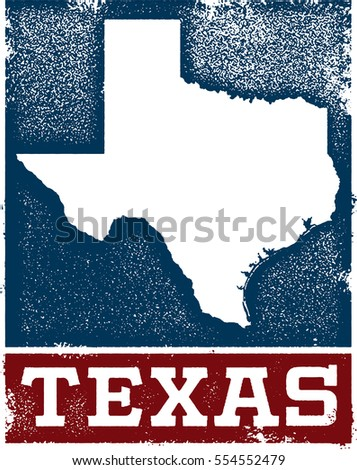 vintage style texas state sign