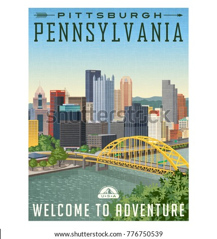vintage style travel poster or...
