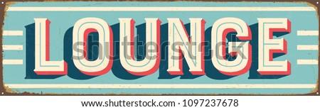 vintage style vector metal sign ...