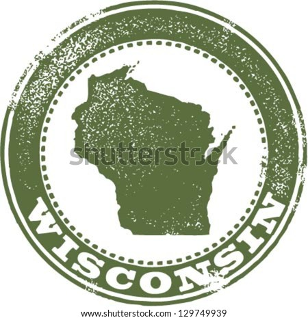 vintage style wisconsin state...