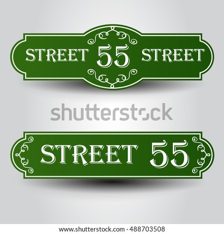 Vintage styled house nameplate.