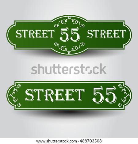 vintage styled house nameplate.