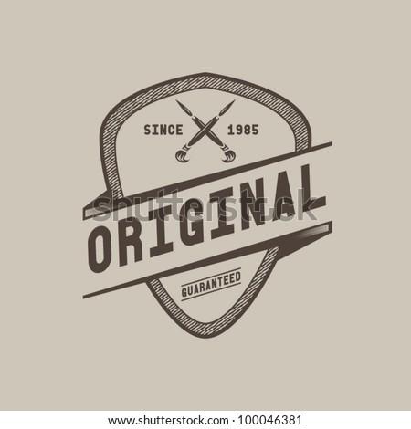 vintage styled label