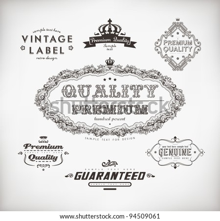Vintage Styled Label collection for retro design