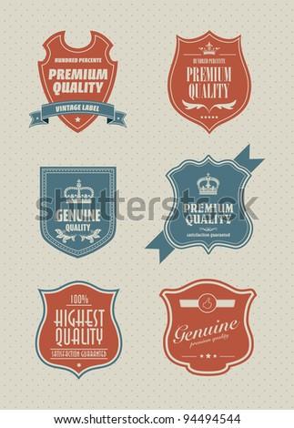 vintage styled shield sticker