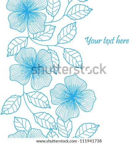 Vintage stylish colorful vector floral leaf seamless pattern with text