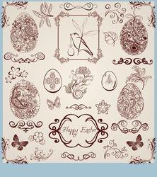 vintage stylized easter set