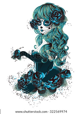 http://www.shutterstock.com/pic-322569974/stock-vector-vintage-sugar-skull-girl-with-roses-for-day-of-the-dead-dia-de-los-muertos.html?src=-AG1asX_IzTW6PMqANrjwQ-1-2