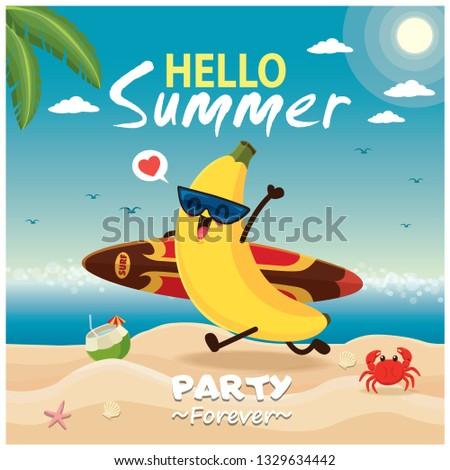 vintage summer poster design