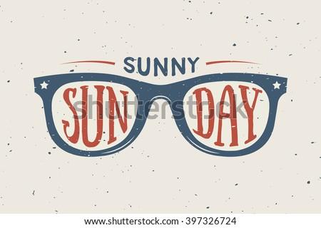 vintage summer sunglasses in