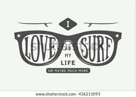 vintage summer surfing