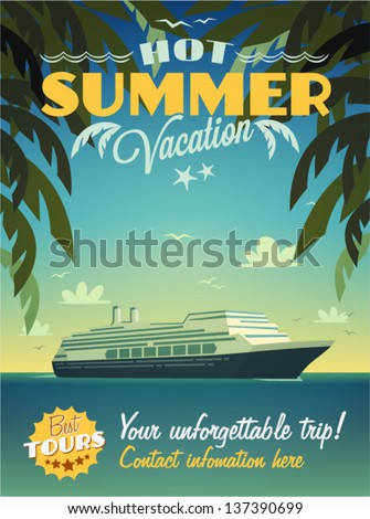 Vintage summer vacation poster