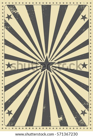Vintage sunbeam background. A vintage poster for your entertainment