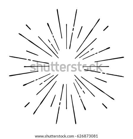Vintage sunburst Stock photo ©