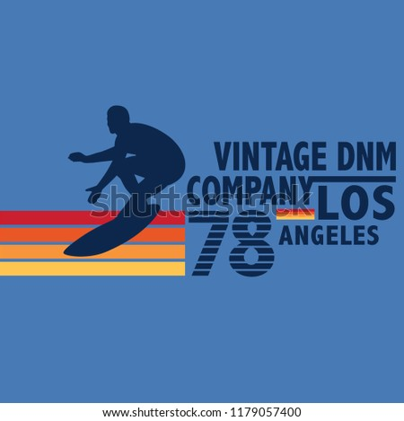 vintage surf graphic