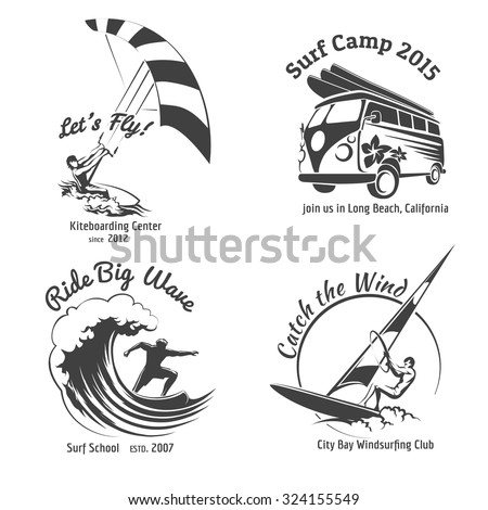 vintage surfing labels and
